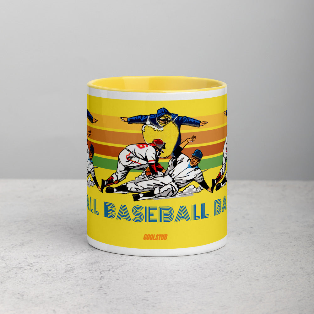 '81 Retro Baseball Mug with Color Inside