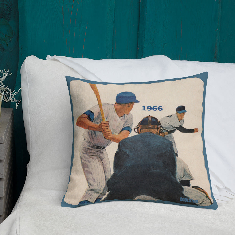 1966 Authentic Baseball Art Premium Pillow
