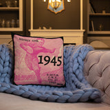 1945 Football Ticket Premium Pillow