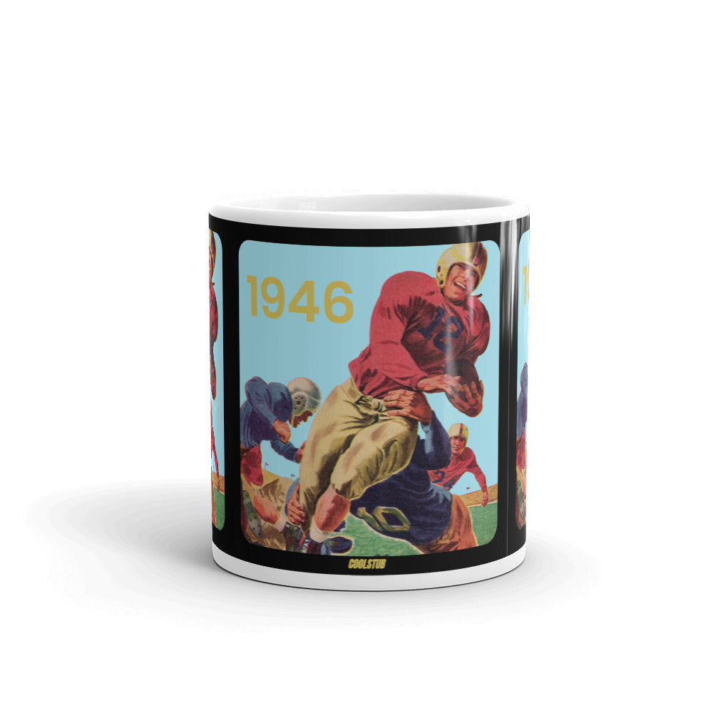 1946 Football Watercolor Art Mug