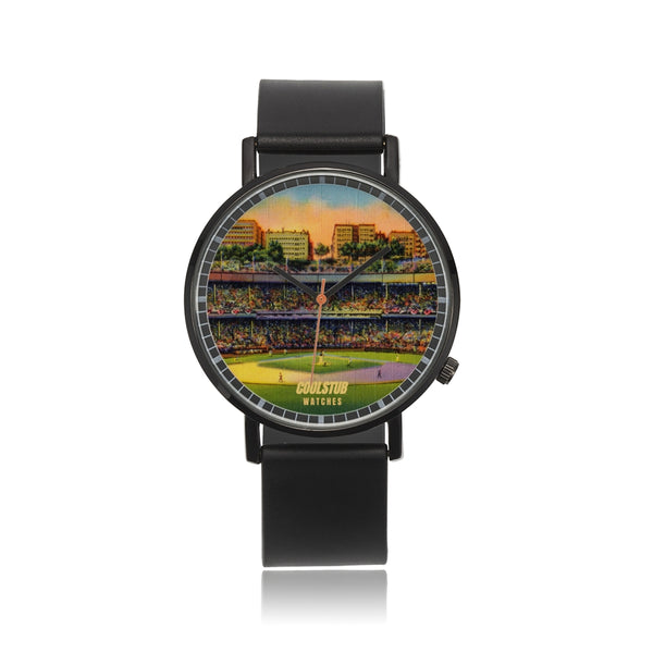 vintage baseball stadium art watch