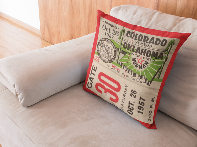 1957 Colorado vs. Oklahoma Pillow