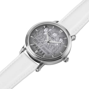 '54 Press Watch (White Leather)