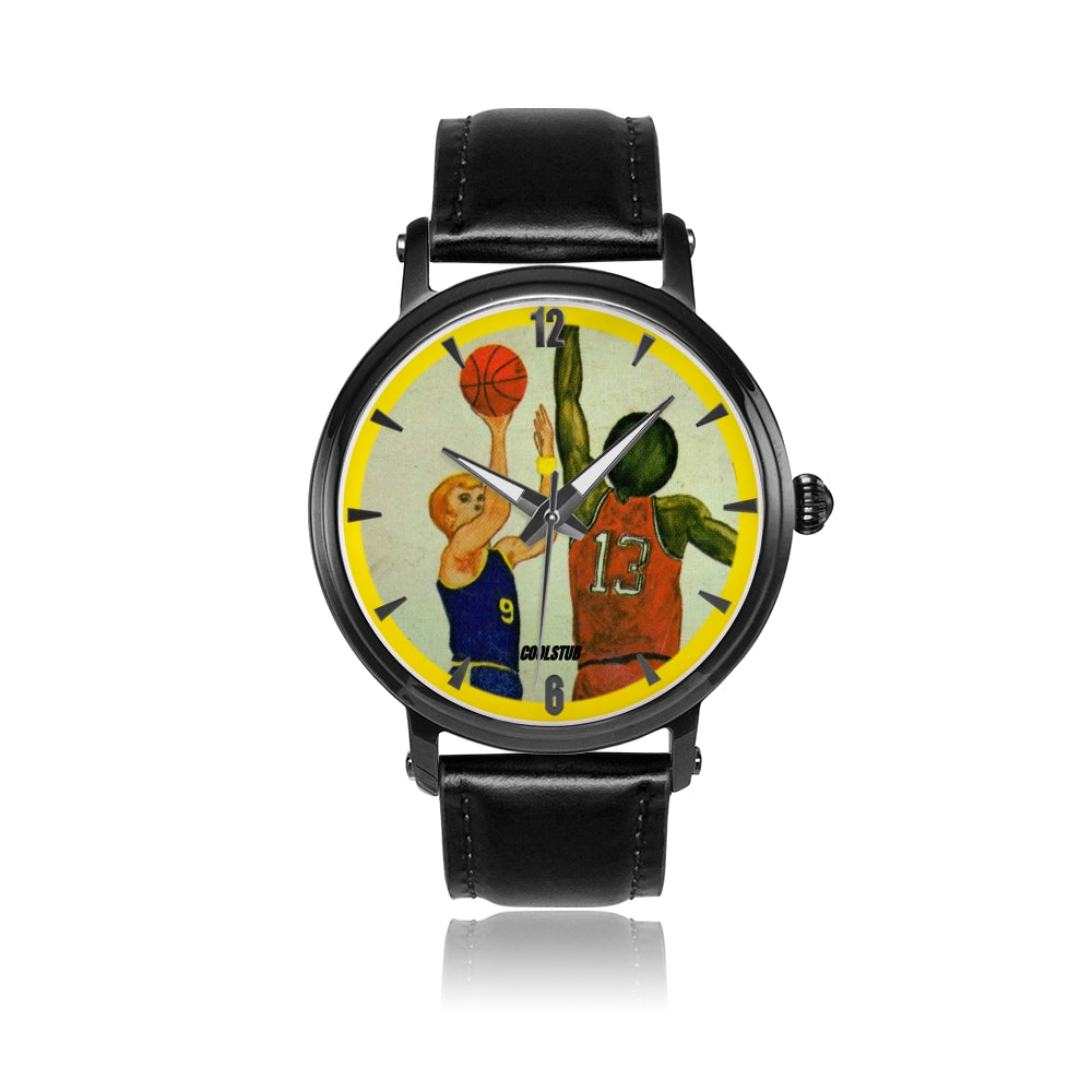 '73 Jump Shot Watch (Black Leather)