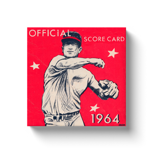 1964 Baseball Score Card Canvas Wrap