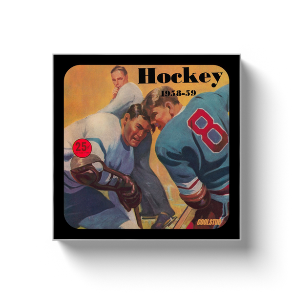 1959 Hockey Art Canvas Wrap