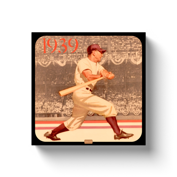 1939 Vintage Baseball Art Canvas Wrap