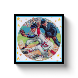 1961 Baseball Tag Canvas Wrap