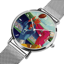 Load image into Gallery viewer, silver football watches