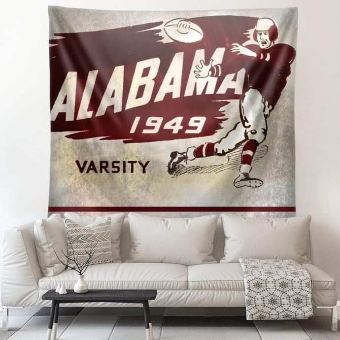 1949 Alabama Crimson Tide Football Art Tapestry