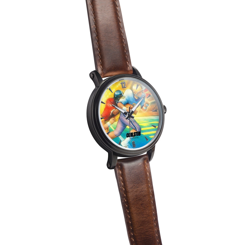 '86 Touchdown Glow Watch (Brown Leather)