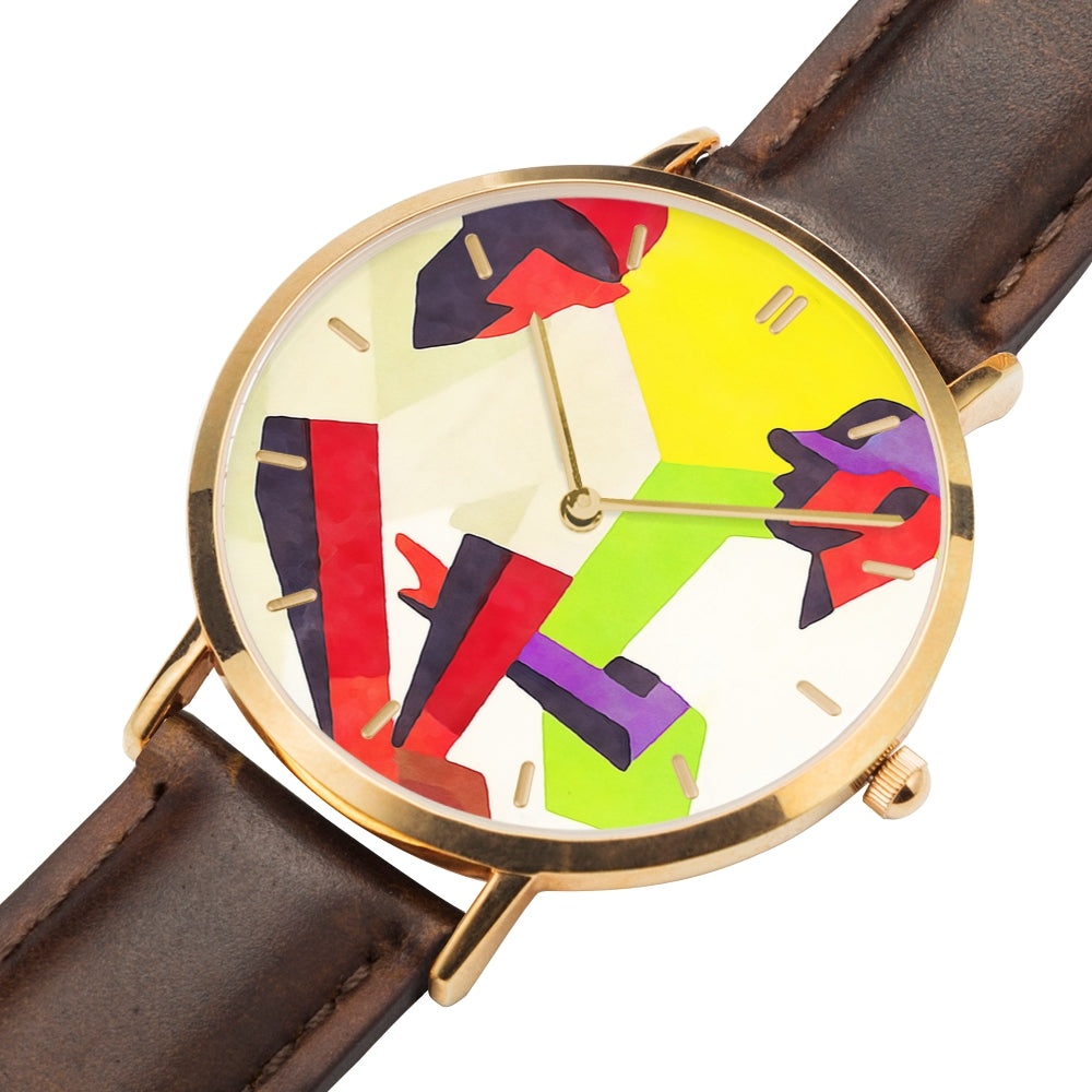 Stealing Second Vintage Baseball Art Watch by Coolstub™