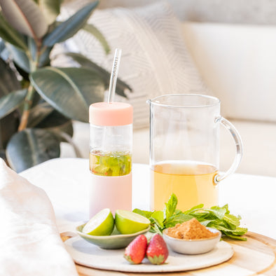 LUXEY RECIPES | Mint, Lime & Strawberry Tea
