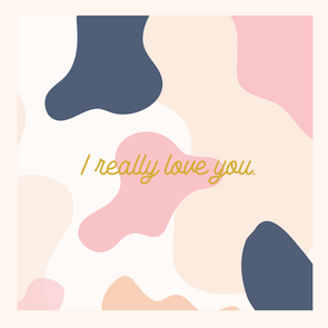 """ I LOVE YOU"" Gift Card"