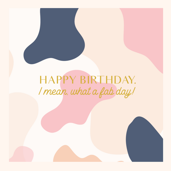 Luxey Gift and Happy Birthday Greeting Card