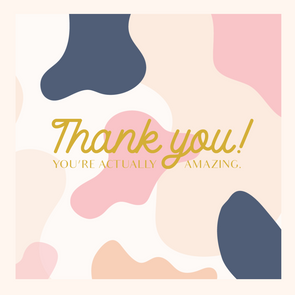 """ THANK YOU "" Gift Card"