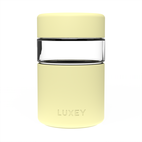LEMON - LittleLUX Cup ( Up to 8 oz ) Reusable Glass Coffee Cup