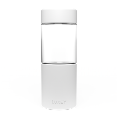 White Middle Child Luxey Cup ( Up to 16oz ) Large Reusable Glass Coffee Cup