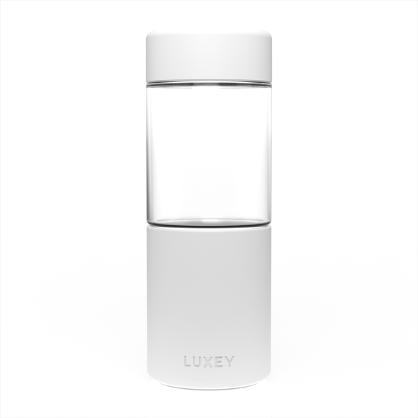 BRIGHT WHITE - Middle Child ( Up to 16 oz ) Reusable Glass Cup