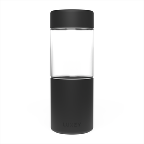 BLACK - Middle Child ( Up to 16 oz ) Reusable Glass Cup