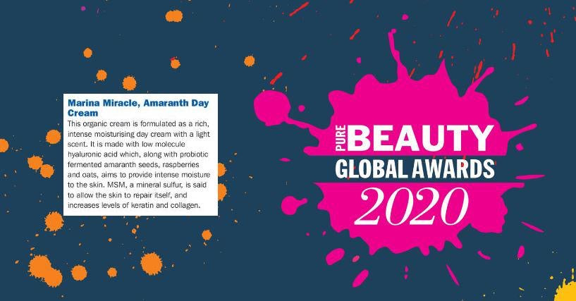 Amaranth Day Cream získal ocenenie na Pure Beauty Global Awards 2020!