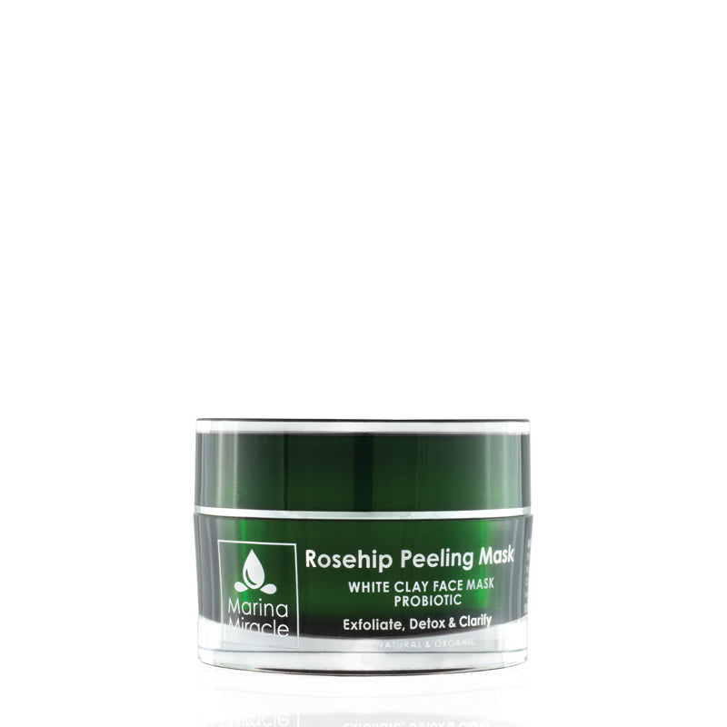 Rosehip Peeling Mask a white clay mask