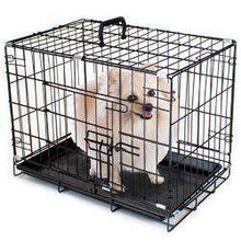 "18"" Extra Small Folding Metal Pet Crate With Removable Liner-DirtyFurClothing-DirtyFurClothing"