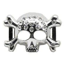 "3-4"""" (18Mm) Slider Skull Charm Clear 3-4' (18Mm)-Mirage Pet Products-DirtyFurClothing"