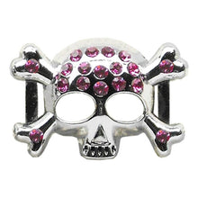 "3-4"""" (18Mm) Slider Skull Charm Pink 3-4' (18Mm)-Mirage Pet Products-DirtyFurClothing"