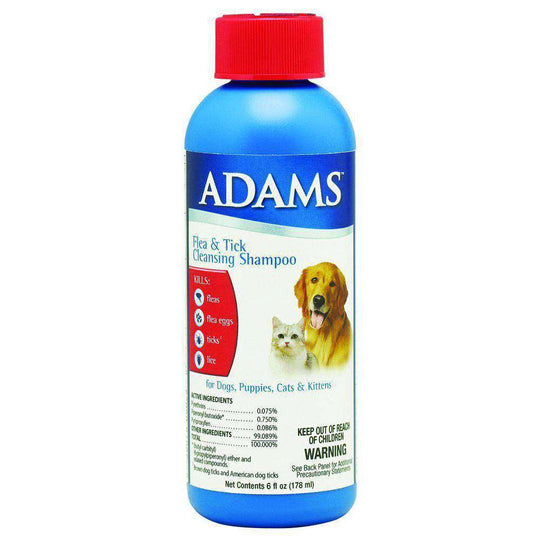 Adams Flea & Tick Cleansing Shampoo-Farnam-DirtyFurClothing