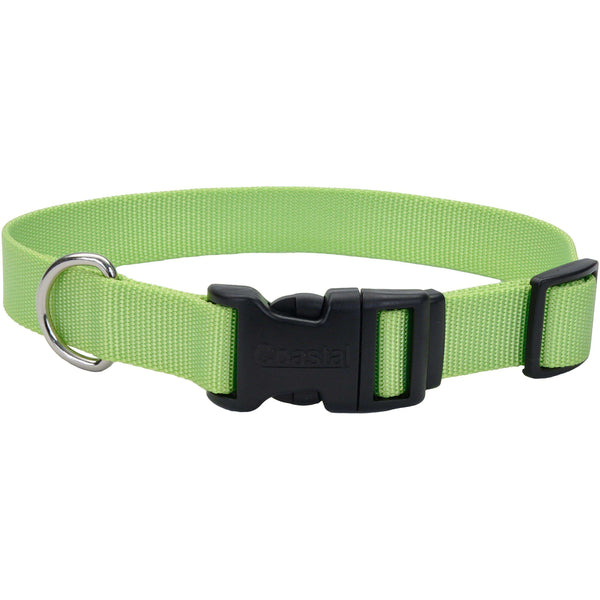 "Adjustable Nylon 3/4"" Dog Collar W/Tuff Buckle-Lime, Neck Size 14""-20""-Coastal Pet Products-DirtyFurClothing"