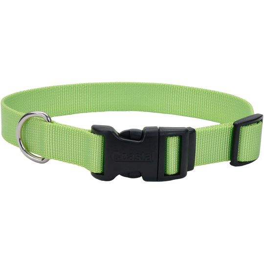 "Adjustable Nylon 3/8"" Dog Collar W/Tuff Buckle-Lime, Neck Size 8""-12""-Coastal Pet Products-DirtyFurClothing"