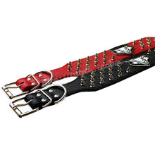 Adjustable Pu Leather Spiked Studded Dog Collar Pet Collar(16~19 In, Red)-Panda Superstore-DirtyFurClothing