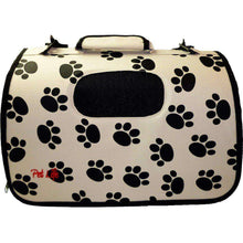 Airline Approved Folding Zippered Sporty Cage Pet Carrier - Paw Print-Pet Life-DirtyFurClothing
