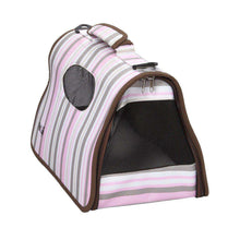 Airline Approved Folding Zippered Sporty Cage Pet Carrier - Stripe Pattern-Pet Life-DirtyFurClothing