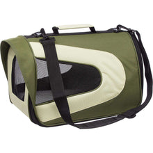 Airline Approved Folding Zippered Sporty Mesh Pet Carrier - Green & Khaki-Pet Life-DirtyFurClothing