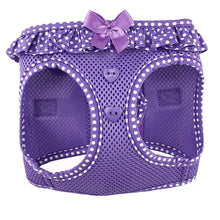 American River Choke Free Harness - Paisley Purple Polka Dot-DirtyFurClothing-DirtyFurClothing