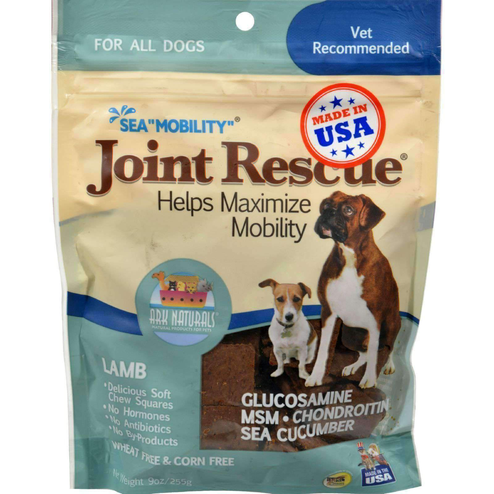 Ark Naturals Sea Mobility Joint Rescue Lamb Jerky - 9 Oz-Ark Naturals-DirtyFurClothing