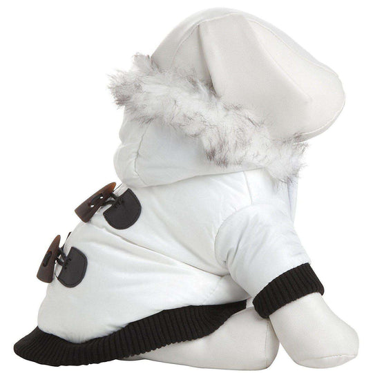 Aspen Winter-White Fashion Pet Parka Coat- Winter White-Pet Life-DirtyFurClothing