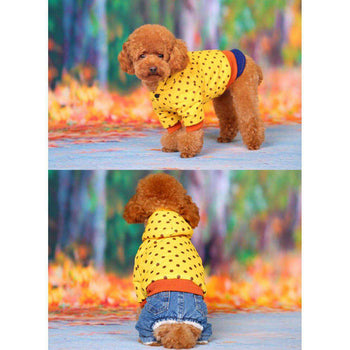 Autumn And Winter Clothes For Puppy With Dot Pattern Dog Warm Clothing-Blancho-DirtyFurClothing