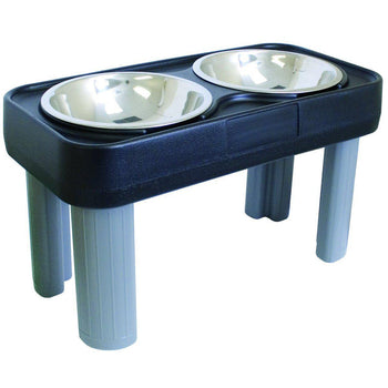 Big Dog Feeder With Easy To Clean Removable Hygienic Stainless Steel Bowls-Ourpets-DirtyFurClothing