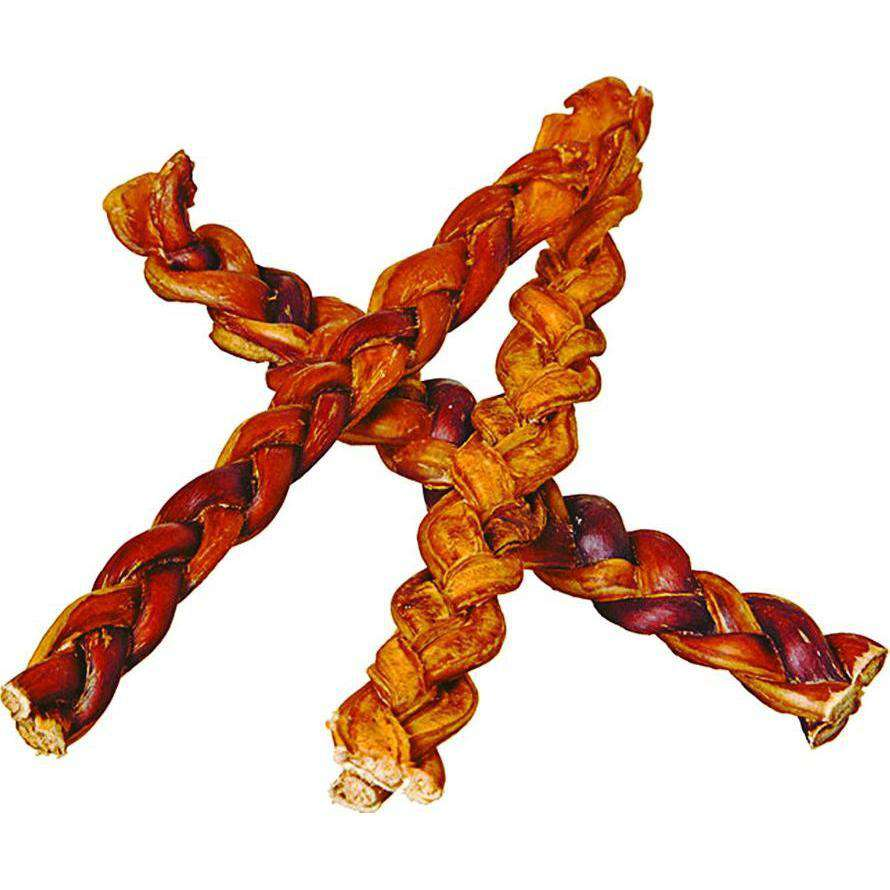 Braided Bully Sticks Smoked Natural Beef Dog Chews-Redbarn-DirtyFurClothing