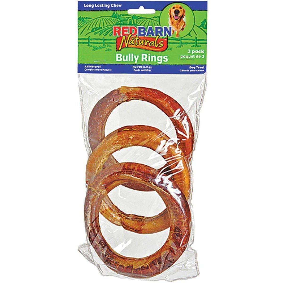 Bully Rings Long Lasting With Natural Beef Muscles Lightly Smoked Dog Treats-Redbarn-DirtyFurClothing