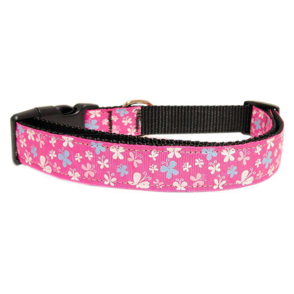 Butterfly Nylon Ribbon Collar Pink Sm-Mirage Pet Products-DirtyFurClothing