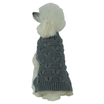 Butterfly Stitched Heavy Cable Knitted Fashion Turtle Neck Dog Sweater-Pet Life-DirtyFurClothing