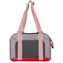 Candy Cane' Fashion Pet Carrier- Grey-red-Pet Life-DirtyFurClothing