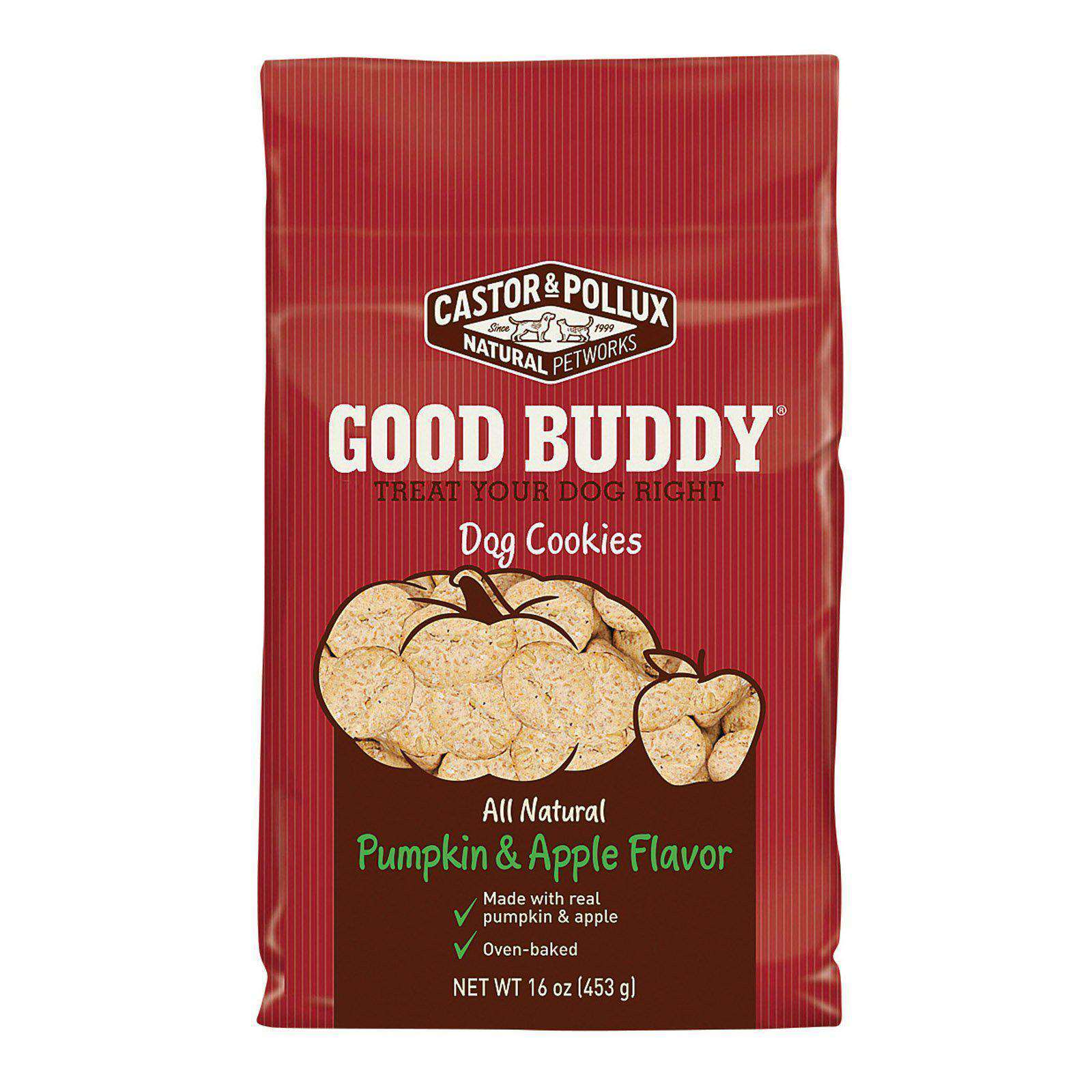 Castor And Pollux Dog Cookies - Pumpkin And Apple - Case Of 8 - 16 Oz.-Castor & Pollux-DirtyFurClothing