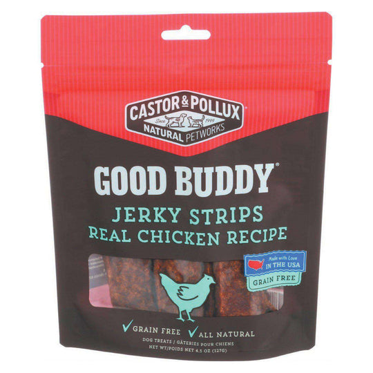 Castor And Pollux Good Buddy Jerky Strips Dog Treats - Real Chicken Recipe - Case Of 6 - 4.5 Oz.-Castor & Pollux-DirtyFurClothing