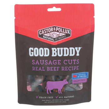 Castor And Pollux Good Buddy Sausage Cuts Dog Treats - Real Beef - Case Of 6 - 5 Oz.-Castor & Pollux-DirtyFurClothing