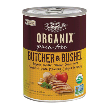 Castor And Pollux Organic Butcher And Bushel Canned Dog Food - Tender Chicken - Case Of 12 - 12.7 Oz.-Castor & Pollux-DirtyFurClothing
